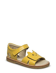 ECOLOGICAL HAND MADE Closed Sandal - 04-PAT YELLOW