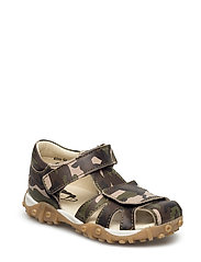 ECOLOGICAL HAND MADE Closed Sandal - 04-ARMY