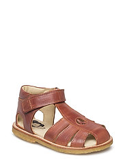 ECOLOGICAL HAND MADE Closed Sandal - 04-COGNAC