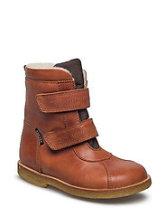 Tex Boot with velcro - 11-COGNAC