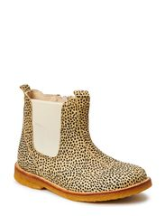 ECOLOGICAL HAND MADE LOW CHELSEA BOOT, WIDE FIT - LEOPARD