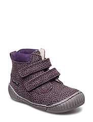 ECOLOGICAL HAND MADE Water proof Boot - 12-LEOPARD VIOLA
