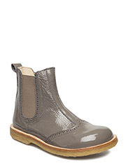 ECOLOGICAL HAND MADE Water proof Boot - 09-DARKGREY PATENT