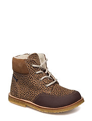 ECOLOGICAL HAND MADE Water proof Boot - 05-LEOPARD COGNAC