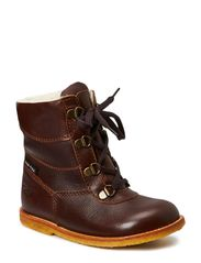 Tex Boot with Zip - DARK BROWN