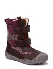 Tex Boot with velcro - PLUM/LEOPARD LILAC