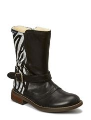 Water proof Tex Boot with zip - BLACK/ZEBRA