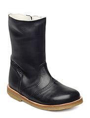 Tex Boot with zip - 28-BLACK