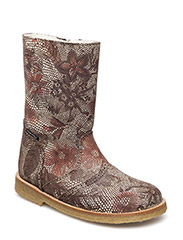 Tex Boot with zip - 34-GISELLE FLOWERS
