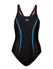 W SHARP ONE PIECE - 524-BLACK-RED-TURQUOISE