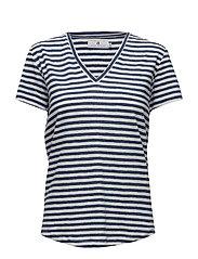 Sofia Linen Stripe - BLUE