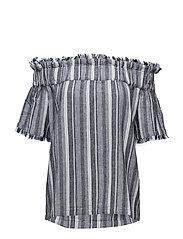 Spector Fray Linen Stripe - LT BLUE COMBO