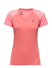 fuzeX V-NECK SS TOP - DIVA PINK
