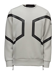HEXAGON CREW TOP - ASH GREY HEATHER