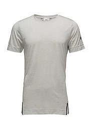 HEATHER SS TOP - ASH GREY HEATHER