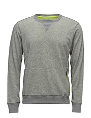 fuzeX CREW TOP - MID GREY HEATHER