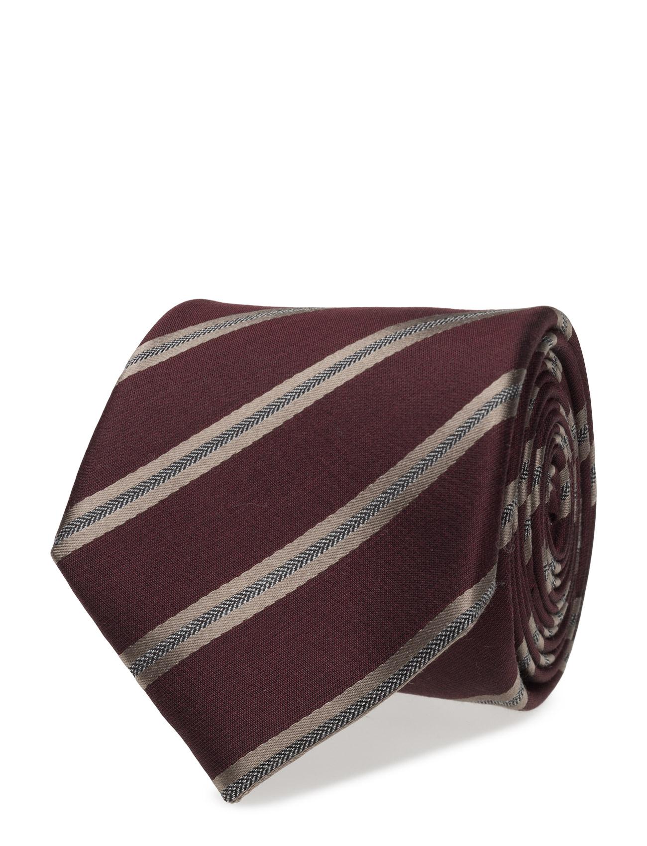 Tie Stripe Ala Herringbone, Wine ATLAS DESIGN Slips til Mænd i Vin