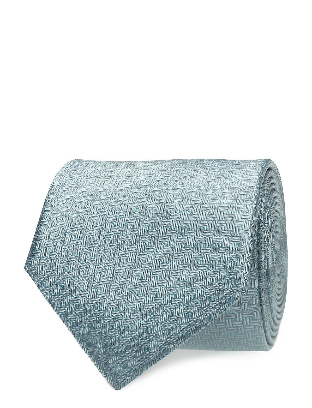 Tie Micro Jaquard, Light Blue ATLAS DESIGN Slips til Herrer i