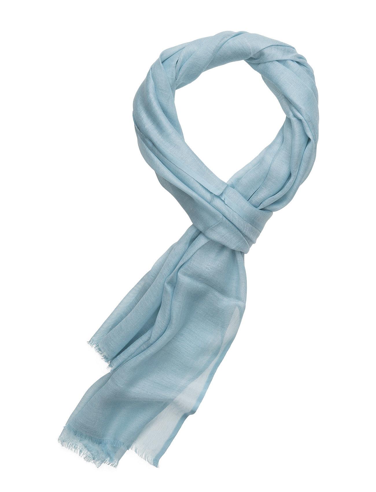 Scarf Plain, Light Blue ATLAS DESIGN Halstørklæder til Herrer i Lyseblå