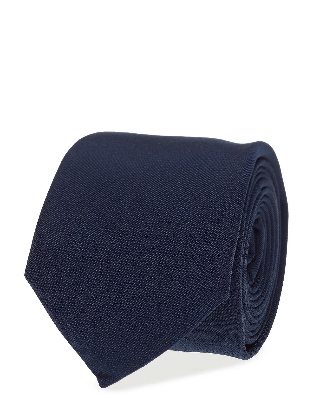 Tie Solid Cotton Blend ATLAS DESIGN Slips til Herrer i Mørkeblå