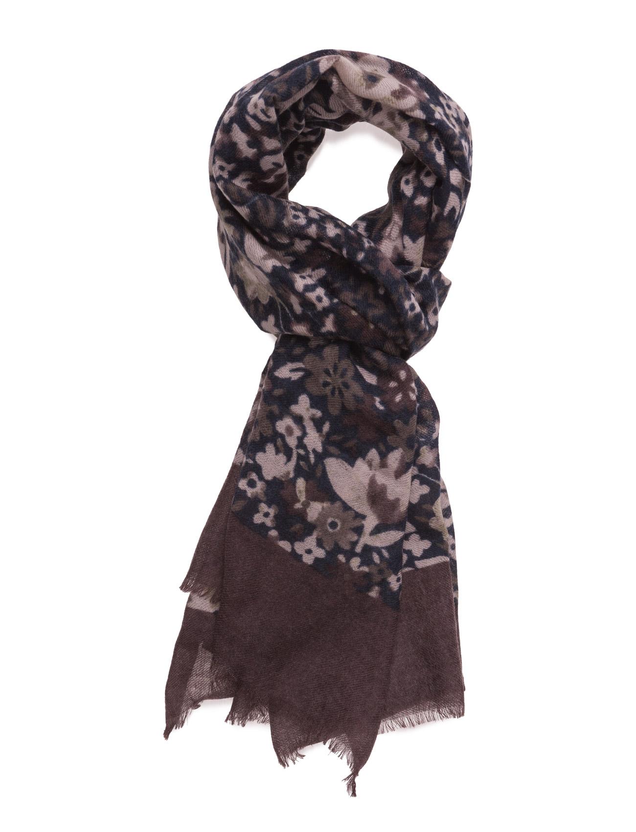 Scarf Floral, Navy ATLAS DESIGN Halstørklæder til Herrer i Navy blå