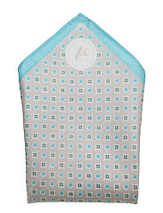 HANKY MICRO PRINT, LIGHT BLUE - SILVER
