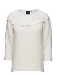 Saloso mid sleeve blouse - - OFF WHITE