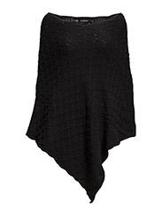 Ozzine poncho - - Black