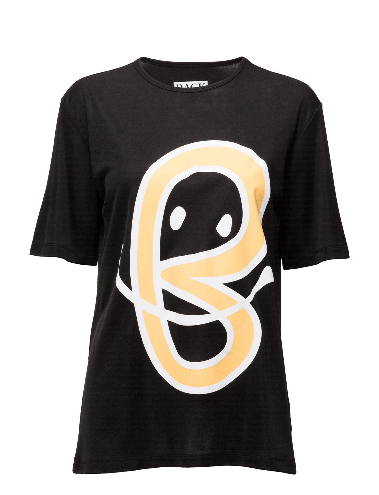 B-Print Uni T-Shirt BACK T-shirts & toppe til Unisex i Sort