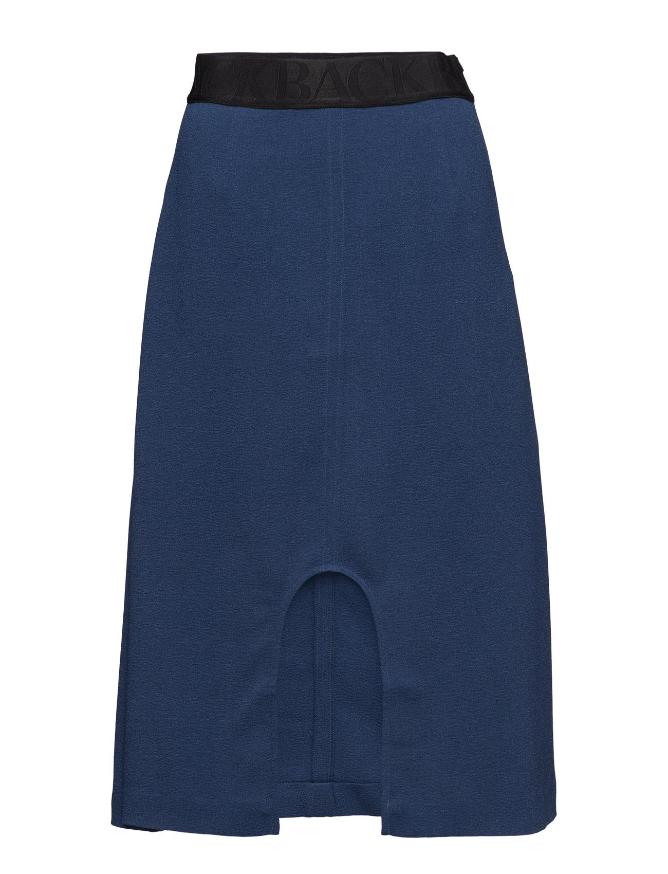 U-Split Logo Skirt BACK Knælange & mellemlange til Kvinder i Navy blå