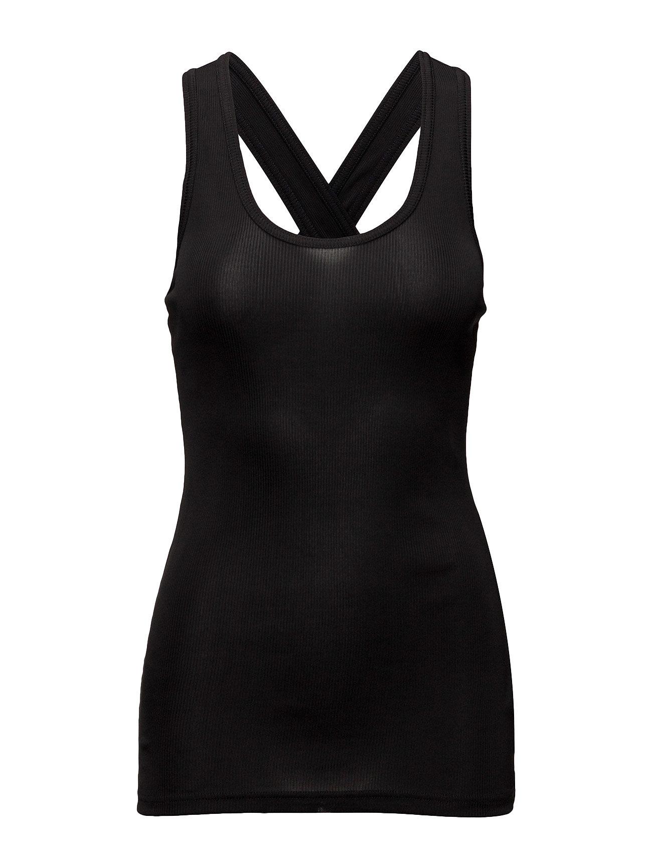 Rib Cros Tank BACK T-shirts & toppe til Kvinder i Sort