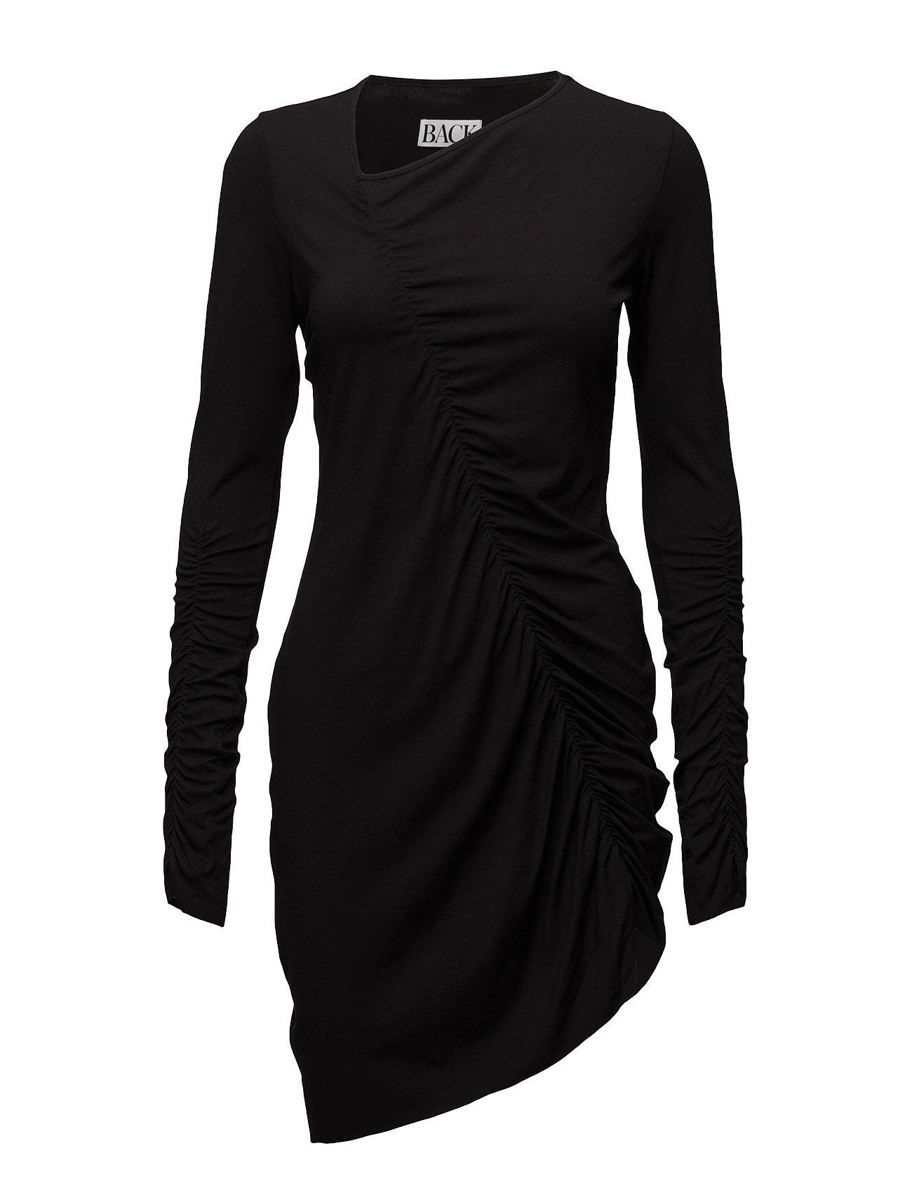 Gather Dress Jersey BACK Korte kjoler til Damer i Sort