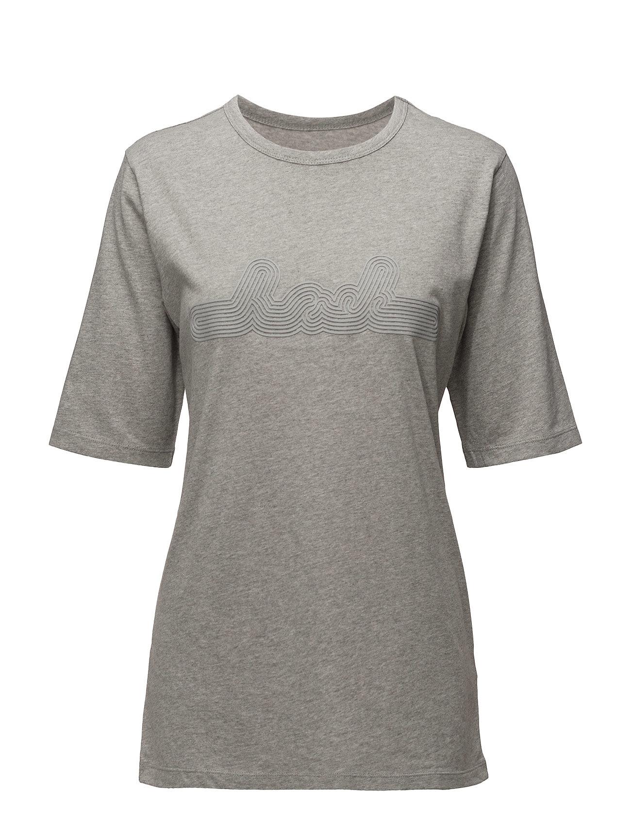 Box T-Shirt BACK Kortærmede til Damer i Grey Melange