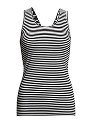 Logo elastic tank - black stripe