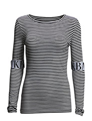 Logo elastic ls top - black stripe
