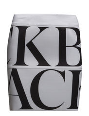 Logo elastic skirt - WHITE