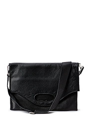 Leather shopper - black