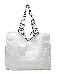 Logo tote plastic weave - WHITE