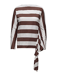 Jigsaw ls top - CHESTNUT STRIPE