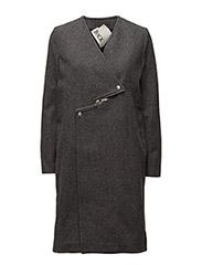 Zip coat - CHARCOAL MARL