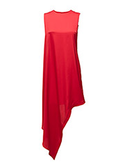 Broken hem dress - HIGH RISK RED