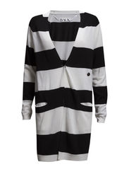 Drunk knit cardigan - black stripe