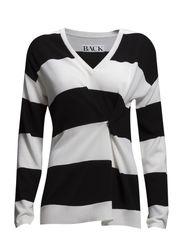 Drunk knit sweater - black stripe