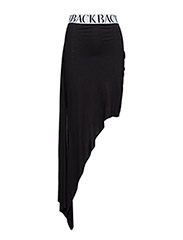 Broken hem skirt - black