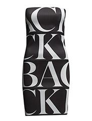 Huge logo dress - black