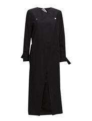 Overlap trenchcoat - black