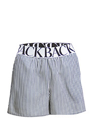 Logo elastic shorts - navy stripe