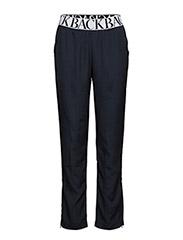 Logo elastic trousers - NAVY