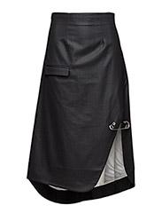 Pin suit skirt - BLACK