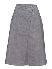 Overlap skirt - GREY CHECKED